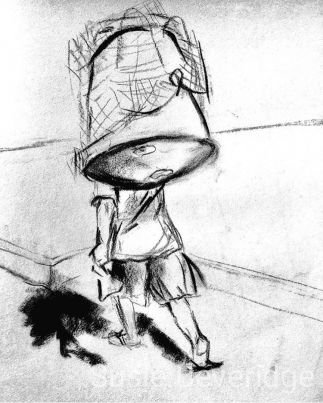 sketch of a Jimbaran fisherman